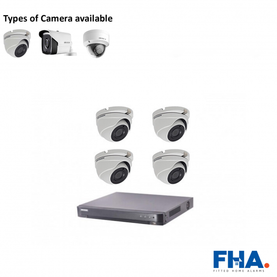 4 Camera CCTV System Fully Fitted - FHA9vyy
