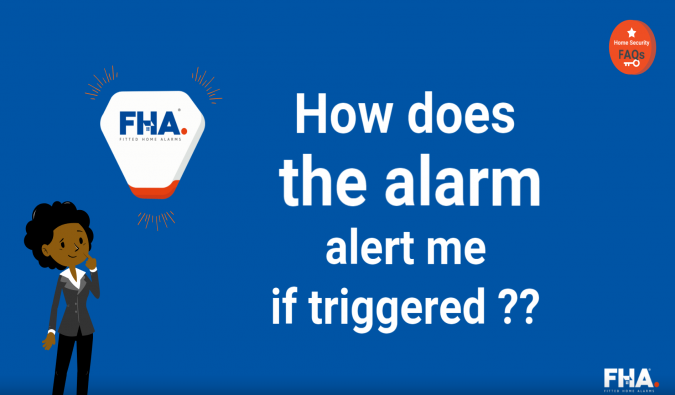 How does the alarm alert me if triggered
