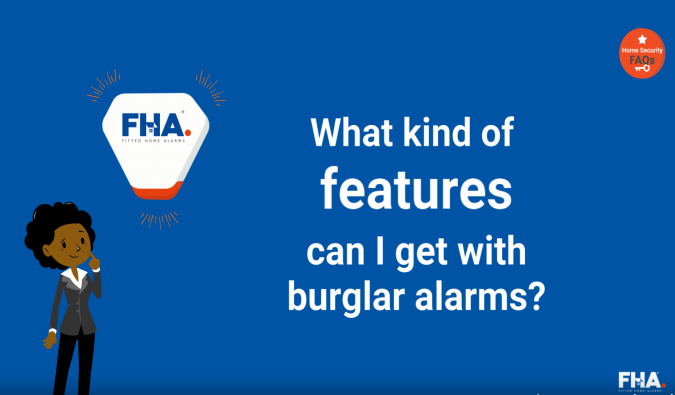 What kind of features can I get with burglar alarms?