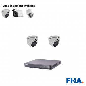 2 Camera CCTV System Fully Fitted - FHAprsa