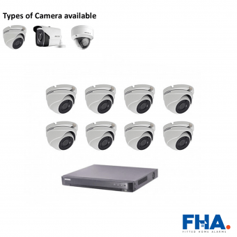 8 Camera CCTV System Fully Fitted - FHA50ad